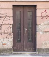 Photo Texture of Doors Double Wooden